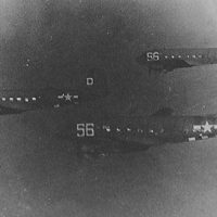 Night Fright leading a 3 ship formation during a flight to Italy