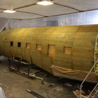 Finally some green etch primer on the fuselage