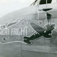 Night Fright nose art 1945
