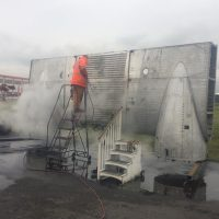 Pressure washing the centre section